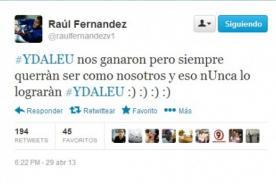 Raúl Fernández a Cristal: Siempre querrán ser como nosotros y nunca lo lograrán