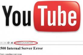 Youtube: Página web sufre repentina caída