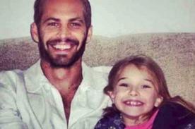 Hija de Paul Walker publica conmovedor mensaje tras muerte del actor