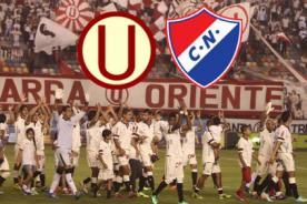 Video de goles: Universitario vs Nacional de Paraguay (1 - 1)