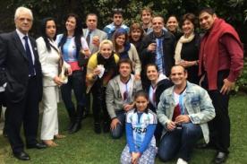 Foto: Julián Zucchi y Yiddá Eslava listos para alentar a Argentina