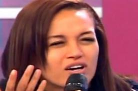 Angie Arizaga aparece libre de maquillaje durante Al Aire [VIDEO]