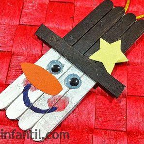 Hombre de nieve para árbol de navidad