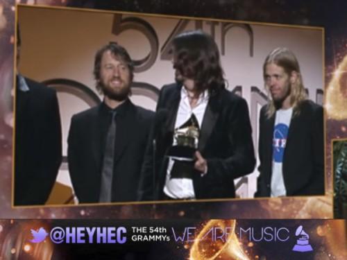 Grammy Awards 2012: Foo Fighters supera a Coldplay como Mejor Actuación Rock