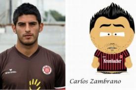 Bundesliga: Hincha del Frankfurt le crea caricatura a Carlos Zambrano