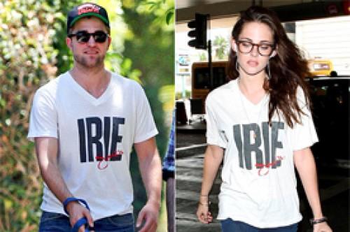 Kristen Stewart fue vista con una camiseta de Robert Pattinson