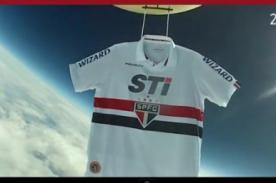 Video: Sao Paulo conquista el universo con camiseta en el espacio
