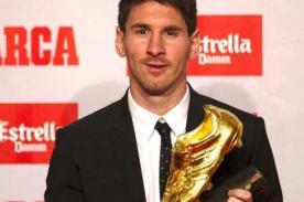 Lionel Messi recibirá este miércoles su tercera Bota de Oro de Europa