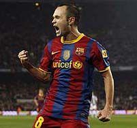 Barcelona: Iniesta listo para jugar ante el Racing de Santander