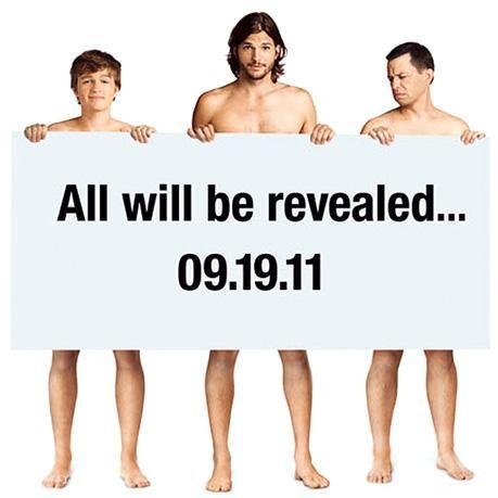Two and a Half Men: Ashton Kutcher aparece en primera promoción de la serie