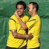 Barcelona: Fábregas e Iniesta vuelven a los entrenamientos