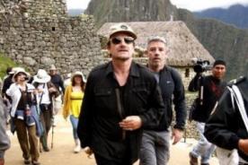 Lluvia retrasó a Bono en ascenso a Huayna Picchu
