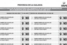 Revocatoria Villarán: Formas de votar para considerar válido tu voto