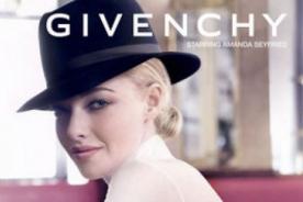 Amanda Seyfried muestra su belleza en nuevo spot para Givenchy