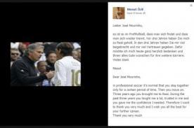 Mesut Özil dedicó esta carta a Mourinho tras su salida del Real Madrid