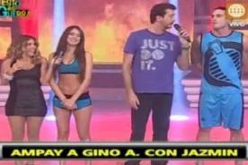 Esto es Guerra: Gino Assereto y Jazmín Pinedo son ampayados - Video