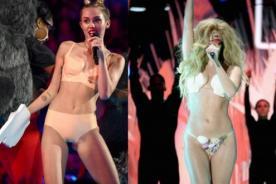 Lady Gaga le brinda su apoyo a Miley Cyrus por actuación en VMA
