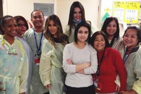 Kim Kardashian y Kendall Jenner visitan hospital de niños por Navidad