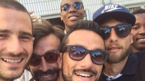 El selfie de la Juventus tras proclamarse campeones del Calcio Italiano-FOTO
