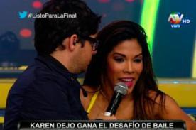 Combate: ¡Karen Dejo le gana a todas con su 'baile del totó' - VIDEO