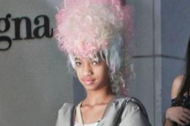 Willow Smith lució llamativa peluca en California