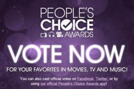 People's Choice Awards 2014: Conoce cómo y dónde votar por tus favoritos