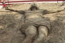 Pachacámac: Crean increíble escultura de arena por Semana Santa - Foto