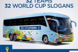 Mundial Brasil 2014: ¿Qué frases irán en los buses de las selecciones?