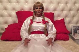 Katty García sorprende con tremendo disfraz de Annabelle [FOTO]