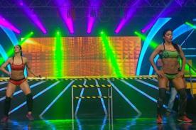 Combate: ¡Paloma Fiuza y Karen Dejo lo mueven todo al ritmo del 'baile del totó' - VIDEO