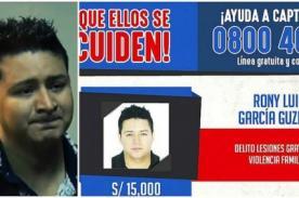 Ministerio del Interior ofrece 15 mil soles de recompenza por la cabeza de Ronny García