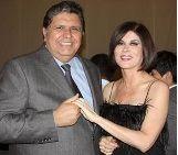 Ex presidente Alan García coqueteó con Olga Zumarán