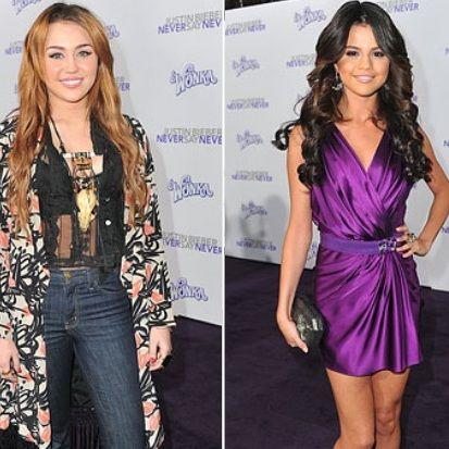 Selena Gomez vs Miley Cyrus: ¿Quién lució mejor en el estreno de Never Say Never?