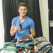 Zac Efron donó más de 300 artículos en ropa para la caridad