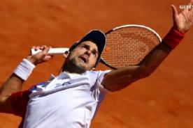 Masters 1000: Novak Djokovic rompe raqueta y avanza en Roma (Video)