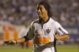Video: Ronaldinho Gaúcho anota su primer gol con el Atlético Mineiro