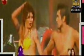 Angie Jibaja derrochó sensualidad con baile erótico en Chile