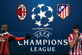 Champions League: A.C Milan vs Atlético de Madrid en vivo por ESPN