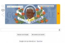 Frases de Nelson Mandela en doodle de su biografía resumida