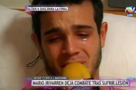 Combate: Mario Irivarren vive una pesadilla tras lesión [VIDEO]