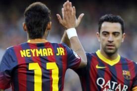 Champions League: ¿Por qué Xavi golpeó en el rostro a Neymar? - VIDEO