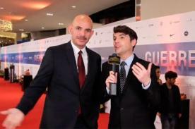 Bruno Pinasco y Ricardo Morán tuvieron tremendo encuentro en la alfombra roja de 'Guerrero'