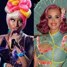 Katy Perry vs Nicki Minaj: ¿Quién lució el vestido más extravagante?