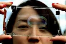 Presentan nuevo celular smartphone transparente