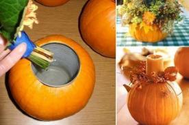 Creativos usos alternos para una calabaza de Halloween