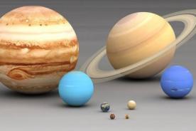 Foto: Dimensión de los planetas de manera gráfica