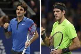 Roger Federer eliminó a Juan Martín del Potro del Masters de París