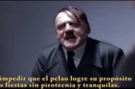 Video: Hitler enfurece con Gian Marco por su queja de los pirotécnicos
