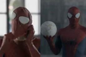 Iniesta, Valdés, López y Arbeoa se transforman en Spider-Man para comercial