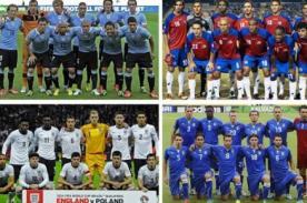 Tabla de Posiciones Mundial Brasil2014: Grupo D - Actualizado